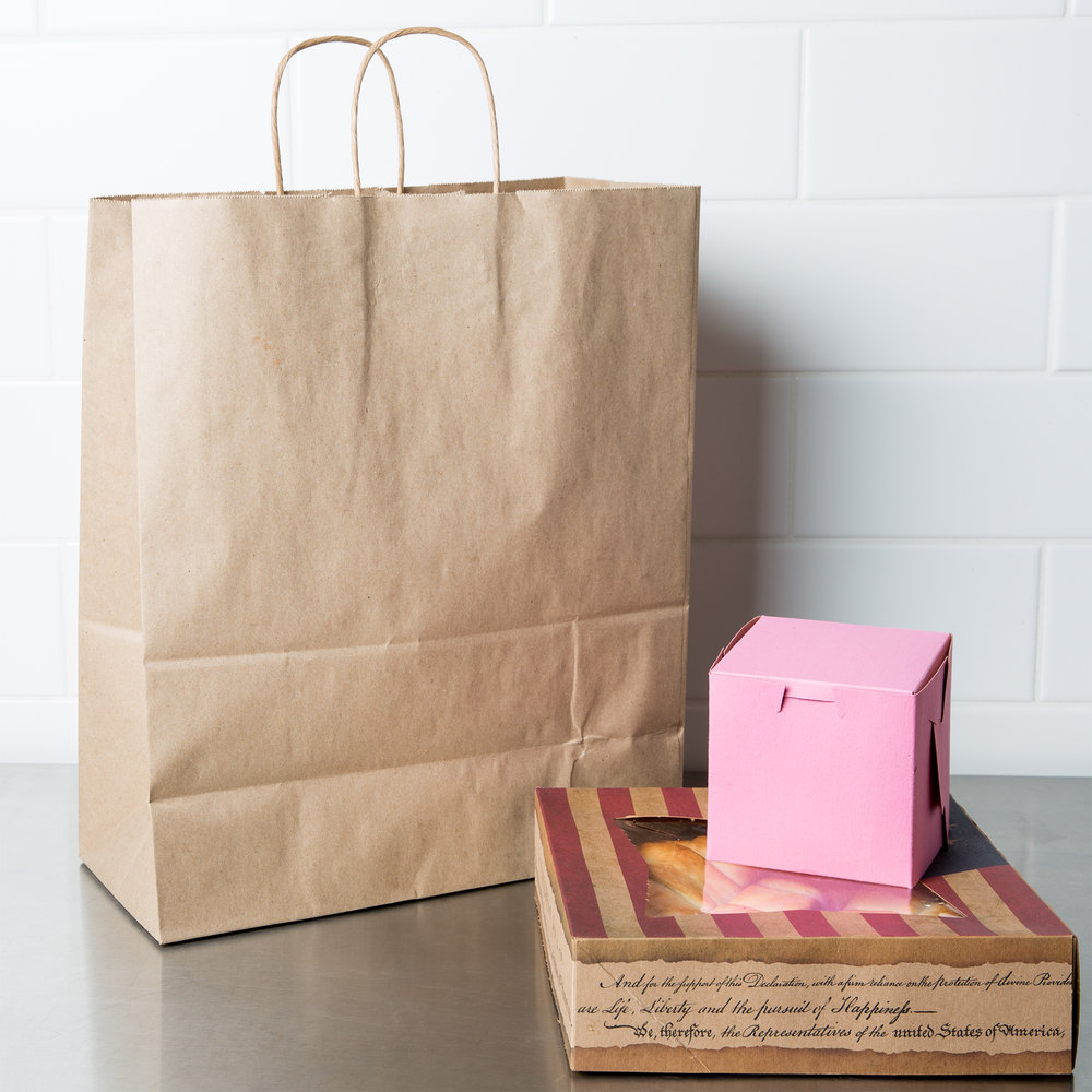 brown kraft carrier bags