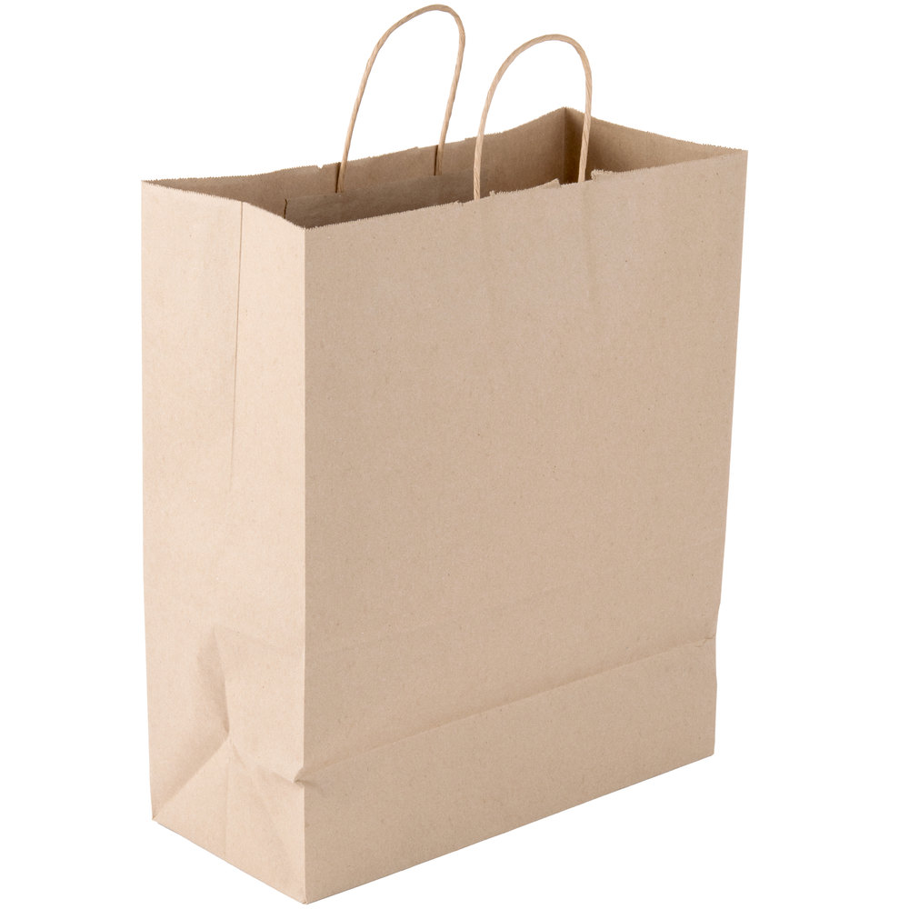 natural brown kraft bag with window