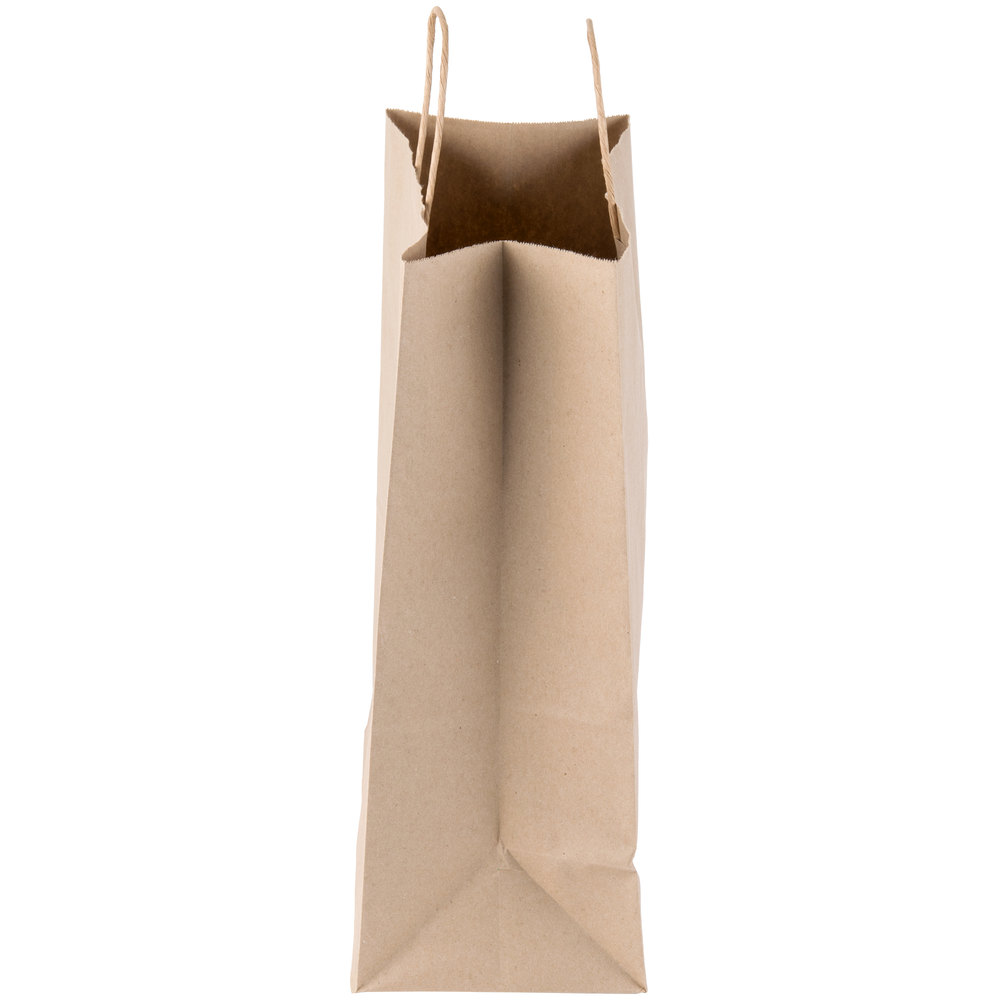 the side of natural brown kraft bag