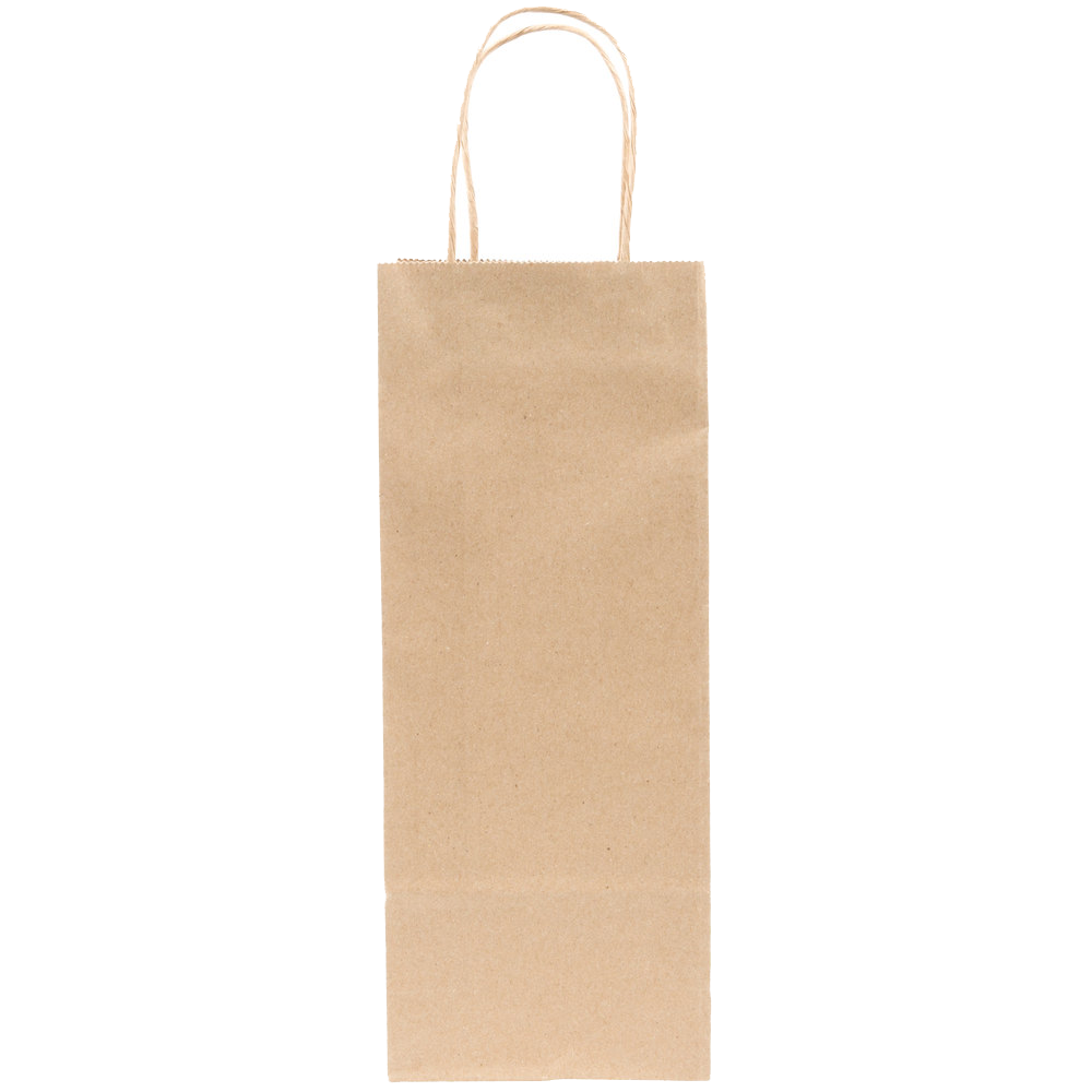kraft wine bags whit handle