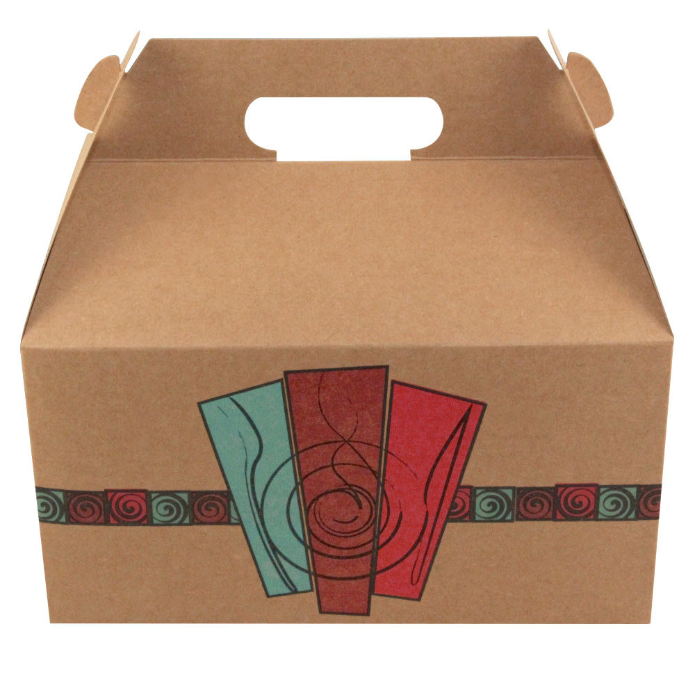 Barn Take Out Lunch Box / Chicken Box with Harvest Design