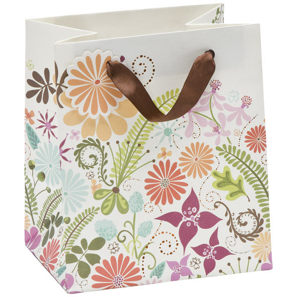 Small Floral Terrain Gift Bag