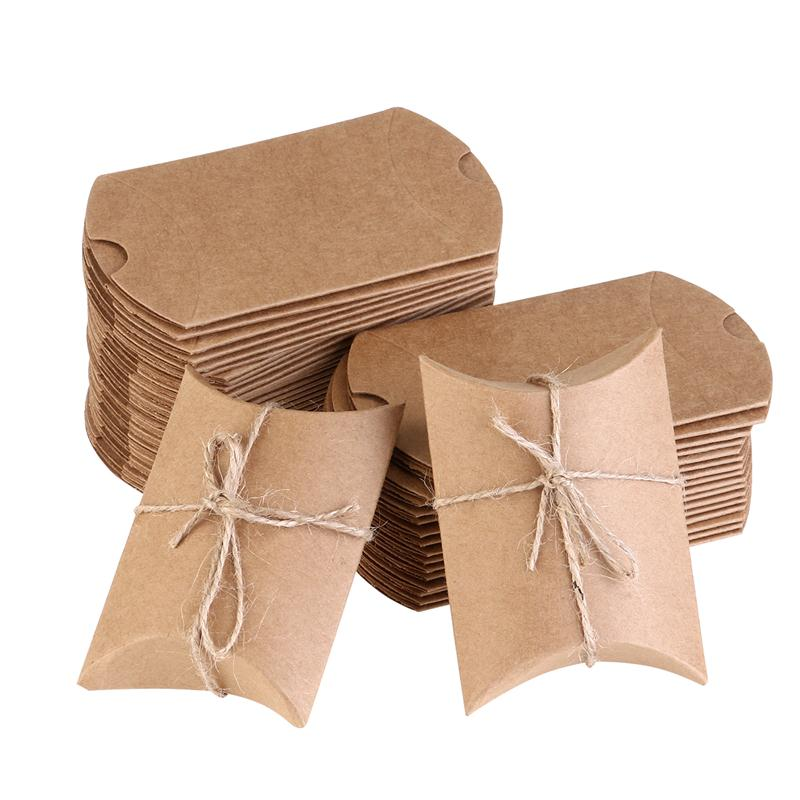 Kraft Paper Event Box For Candy Snack Bakery Gift