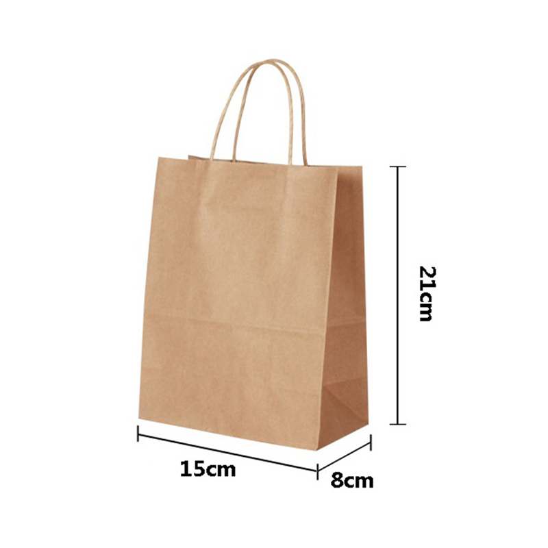 Natural kraft paper bag with handle