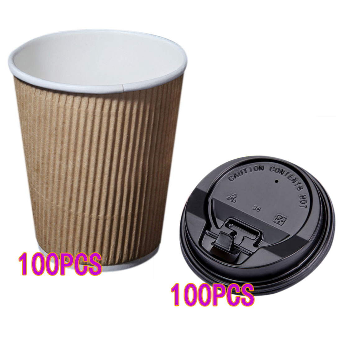 Kraft Paper Coffee Cups Milk Tea Cups With Switch Lid Party Paper Cup Christmas Supplies
