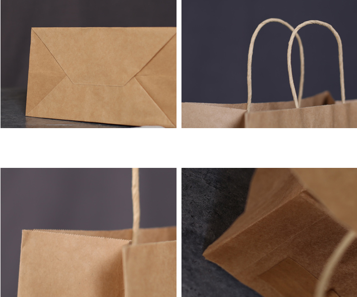 kraft paper bag detail