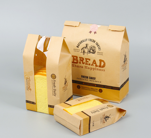 Kraft paper bread bag